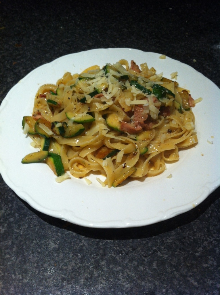 Slimming World Creamy Courgette Carbonara – Slimming Girl